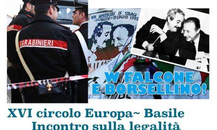 istituto 16° CIRCOLO Europa-Basile: INCONTRO PER LA LEGALITA'
